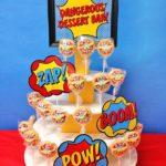 Superhero party rice crispies