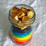 rainbow licorice jar treats for St. Patrick's Day