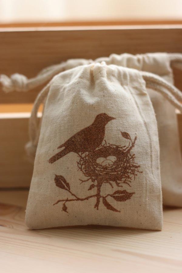 Bird Nest bag favors for Nest Baby Shower