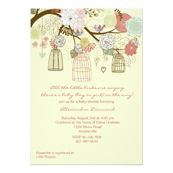 Cute Nest baby shower Invitation!