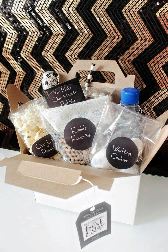 Fabulous Modern Wedding Welcome Bag! - B. Lovely Events