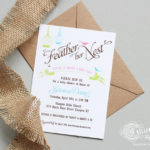 Feather Her Nest Baby shower invite