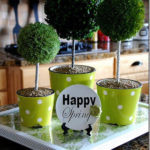 Fun Spring Topiary Centerpieces!