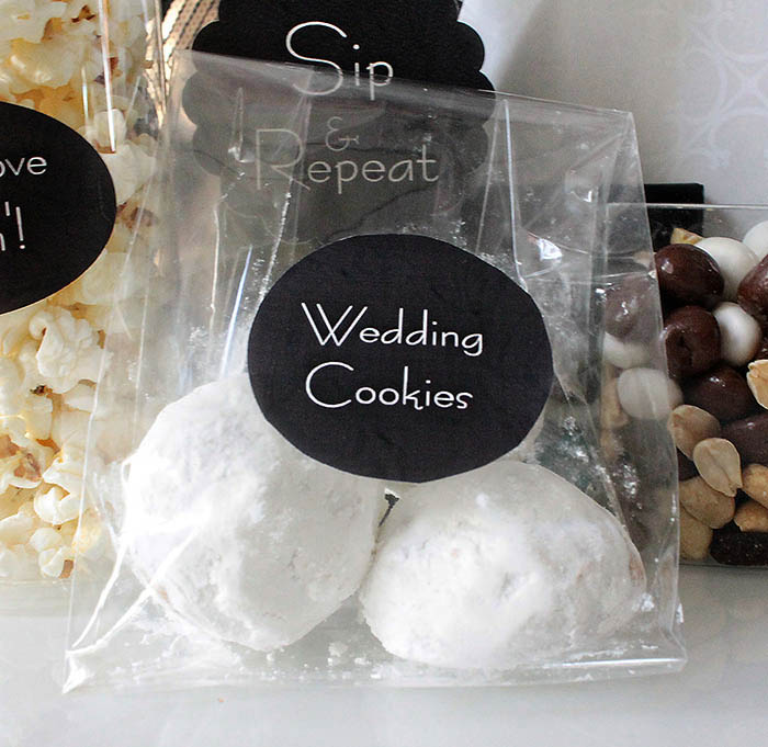 Mexican wedding cookies welcome bag treat -B. Lovely Events