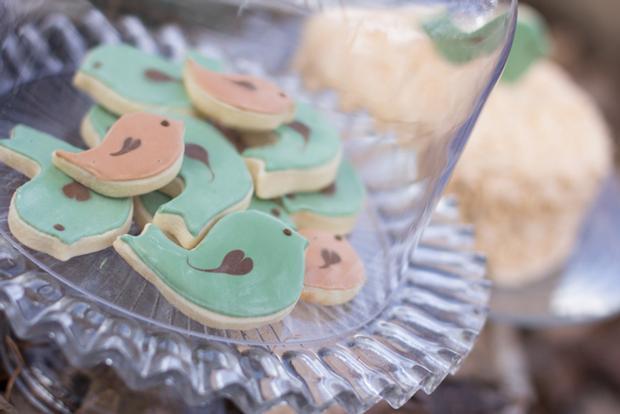 Nest Baby Shower Birdie Cookies!