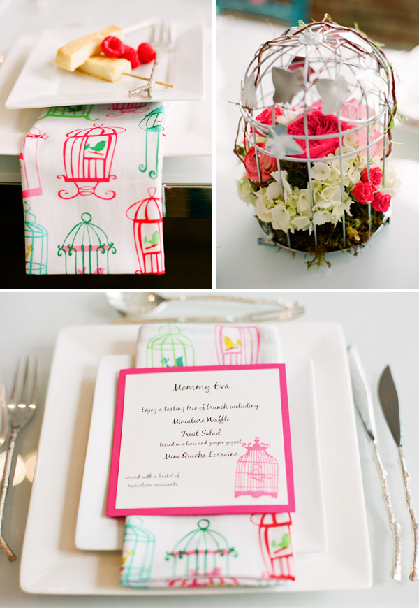 Nest Baby Shower Napkin Idea, so cute!