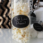 Our Love Is Poppin wedding popcorn