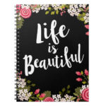 Pink Floral life is beautiful mothers day gift for mom