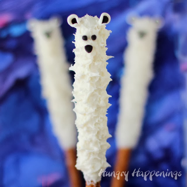 Polar Bear Pretzel pops!