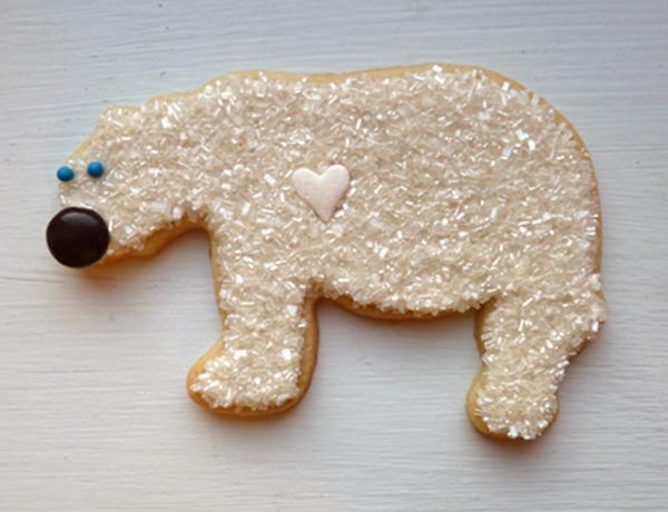 Polar bear Cookies!! Love these