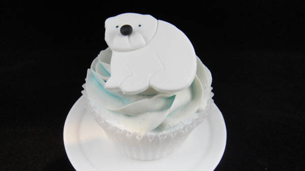 Polar bear party cupcake toppers!