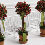 Red Berry Topiary Centerpieces