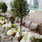 Rosemary Topiary Centerpiece- so chic!