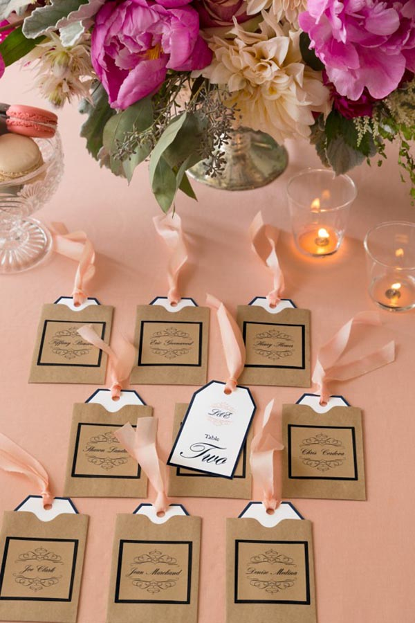 Super Cute Wedding Escort Card tags!