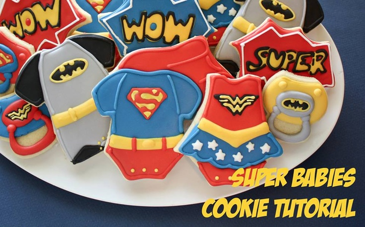 Super Hero Babyshower cookies!