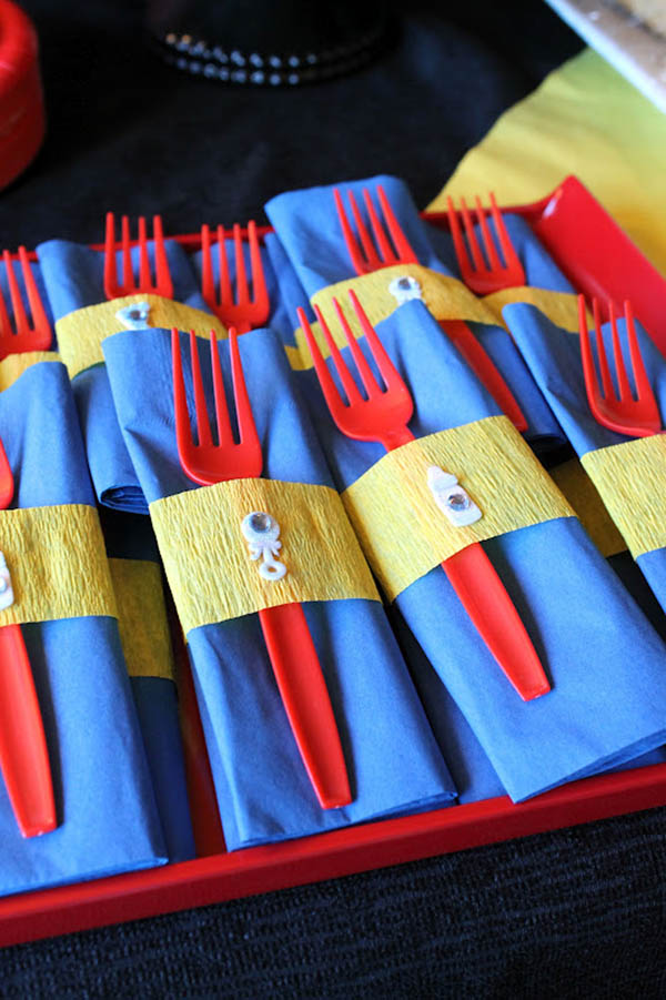 Super hero Party Baby shower silverware!