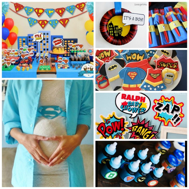 Super hero baby shower ideas! - B. Lovely Events