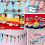 Superhero Baby Shower Party decorations