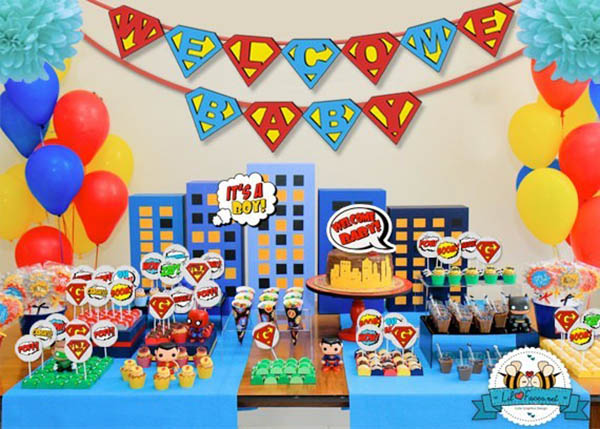 Baby Shower Decorations Superhero ~ Fantastic superhero baby shower ideas b lovely events