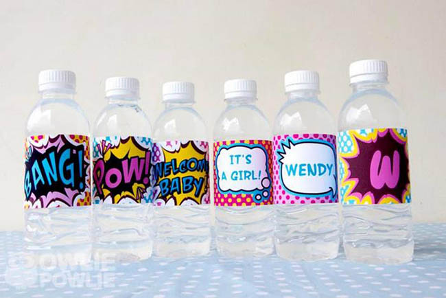 Superhero baby shower drinks