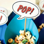 Superhero baby shower snacks