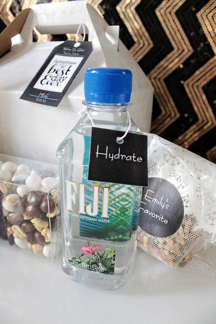 Wedding Welcome Bag Water -B. Lovely Events
