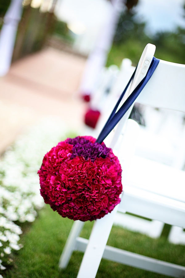 Hanging Pomander Aisle decorations