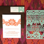 Laser Cut Papel Picado Wedding Invitation