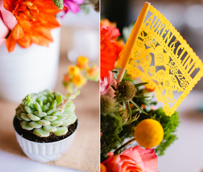 Moder Papel picado centerpiece