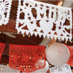Papel Picado Wedding Flags