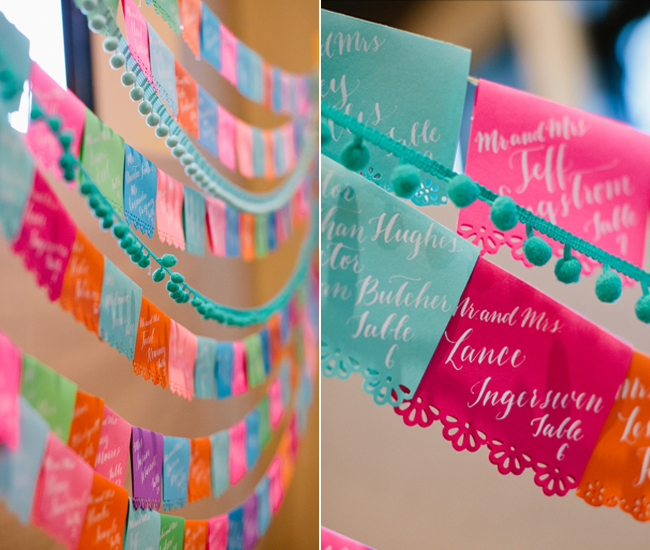 Papel Picado wedding Escort Cards
