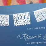 Papel picado Save the Dates