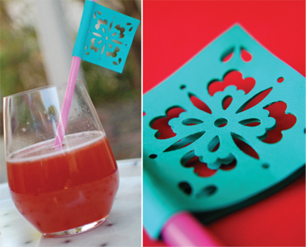 Papel picado drink straws