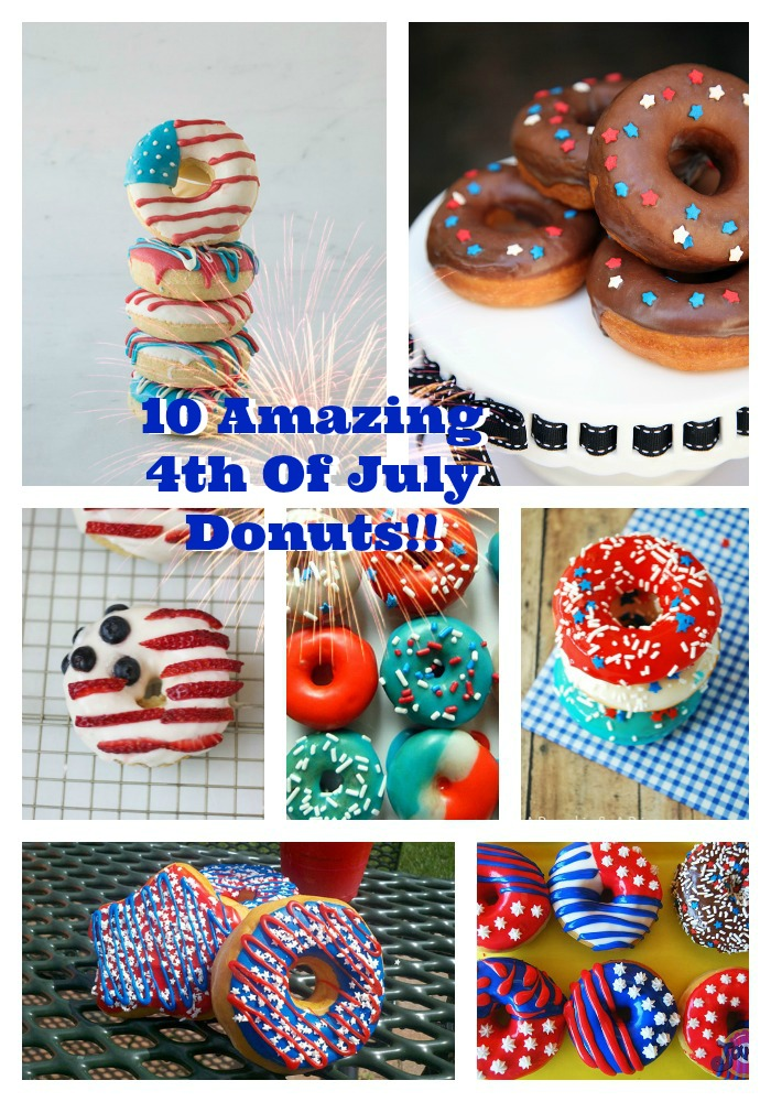 10 Amazing 4th Of July Donuts! - B. Lovely Events