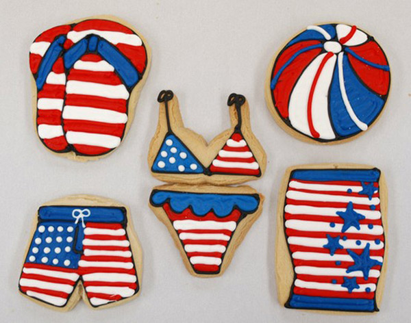 4th Of July Swim cookies!