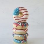 Amazing 4th of July flag donuts!