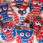 Awesome Owl 4th Of July Cookies