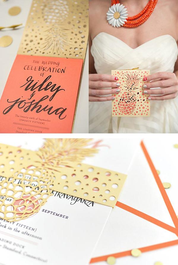 Awesome Pineapple Party Invitations