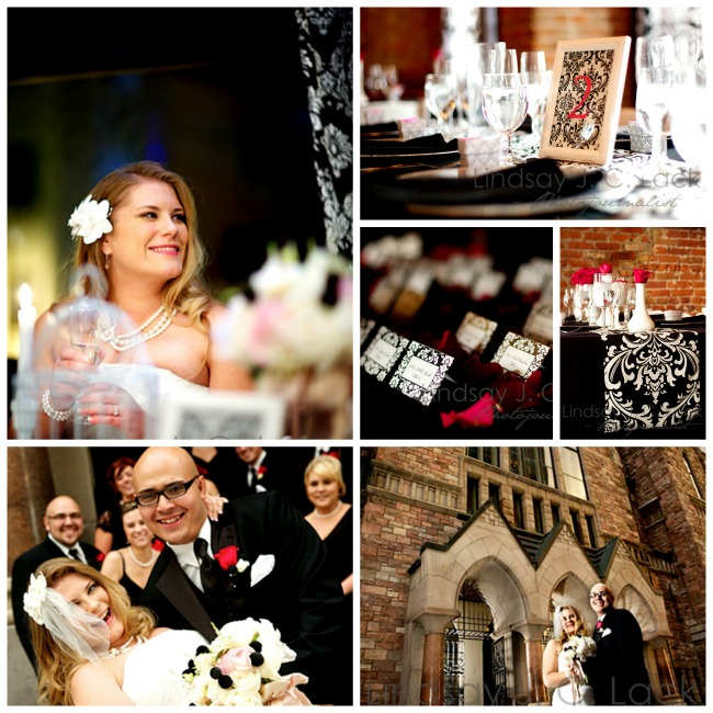 Beautiful Pink, Black And White Damask Wedding! - B. Lovely Events