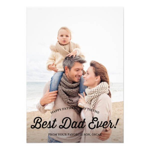 Best Dad Ever Fathers Day Card