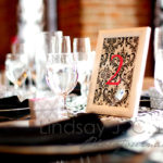 Black And Whte Damask Wedding Table Numbers