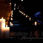 Candlelit Stairway- Cute for wedding reception