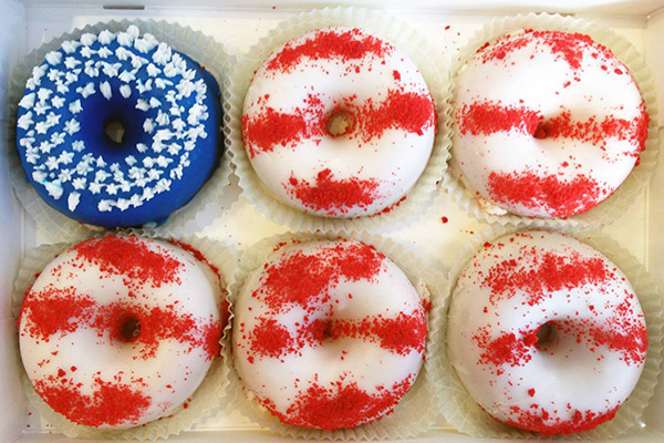 Cute American Flag Donuts