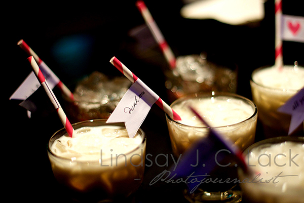 Drink Me Straw Flag- SO Cute for A Wedding