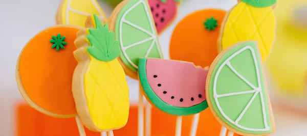 Fun Tropical Cookies- Love the pineapples!
