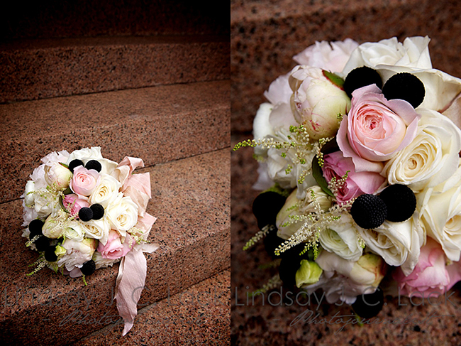 Gorgeous Black And White Bouquet