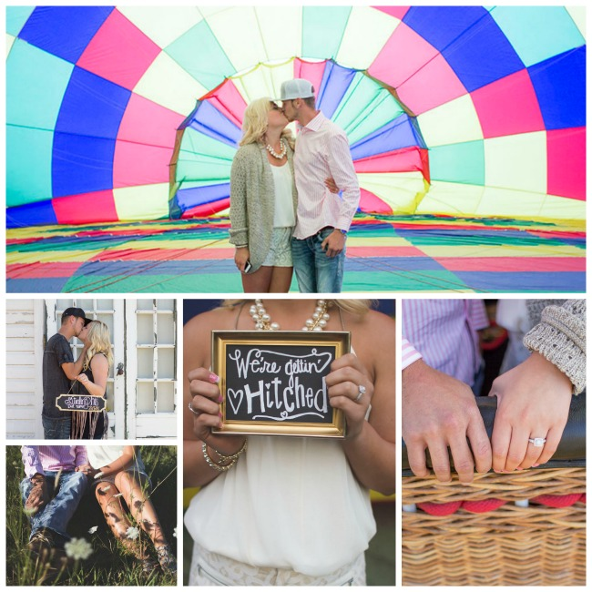 Hot Air Balloon Engagement Session- B. Lovely Events