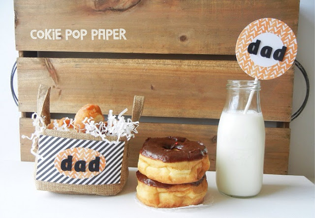 Love these Little Donut Display For Dad for Father's Day