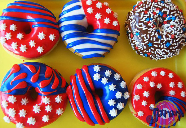 Love these patriotic donuts for 4th of July
