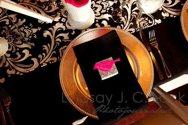 Love this Cute Black And White themed Place Setting